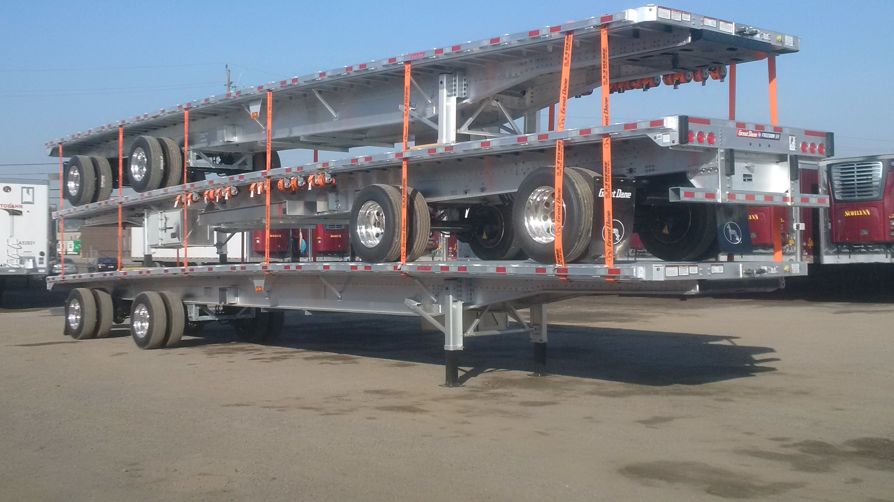 2019 Great Dane All Aluminum Freedom XP 53' Tandem Rear Axle Slide Flatbed